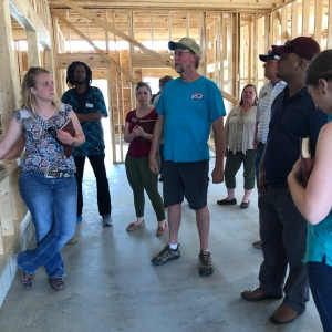 Mark explains his plans for the robot barn.